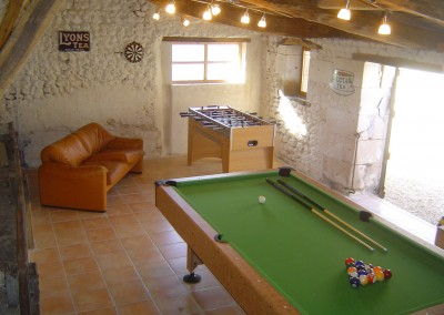 The games room in the former dairy