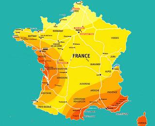 Summer temperature in France