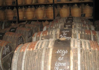 Cognac in Hennessy's vaults